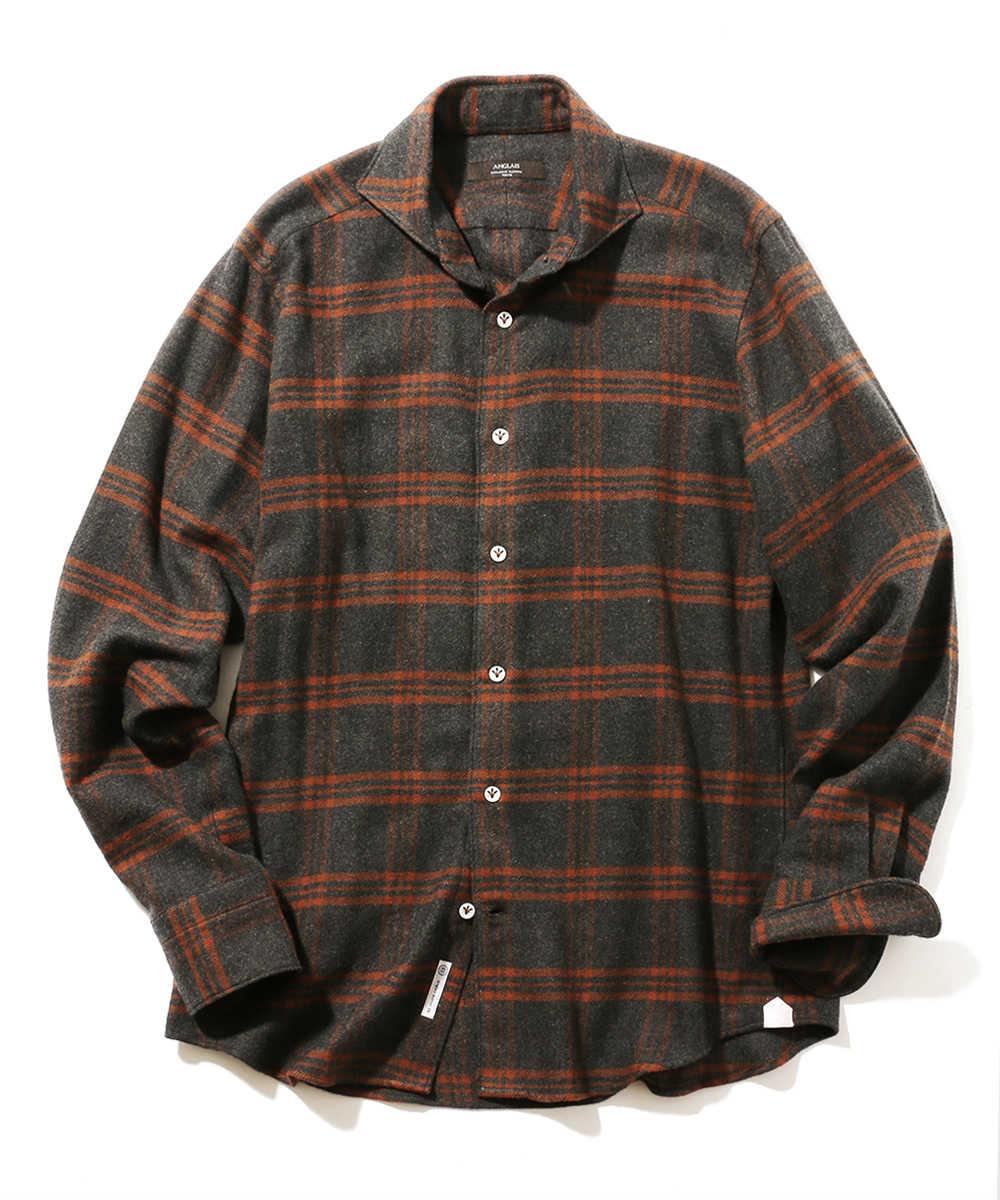 コットンネルチェックシャツ